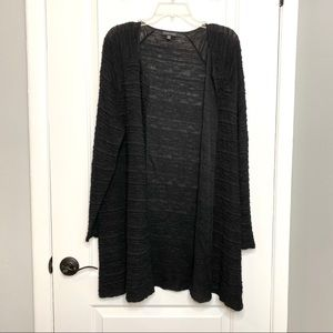 Eileen Fisher Straight Open Front Long Cardigan